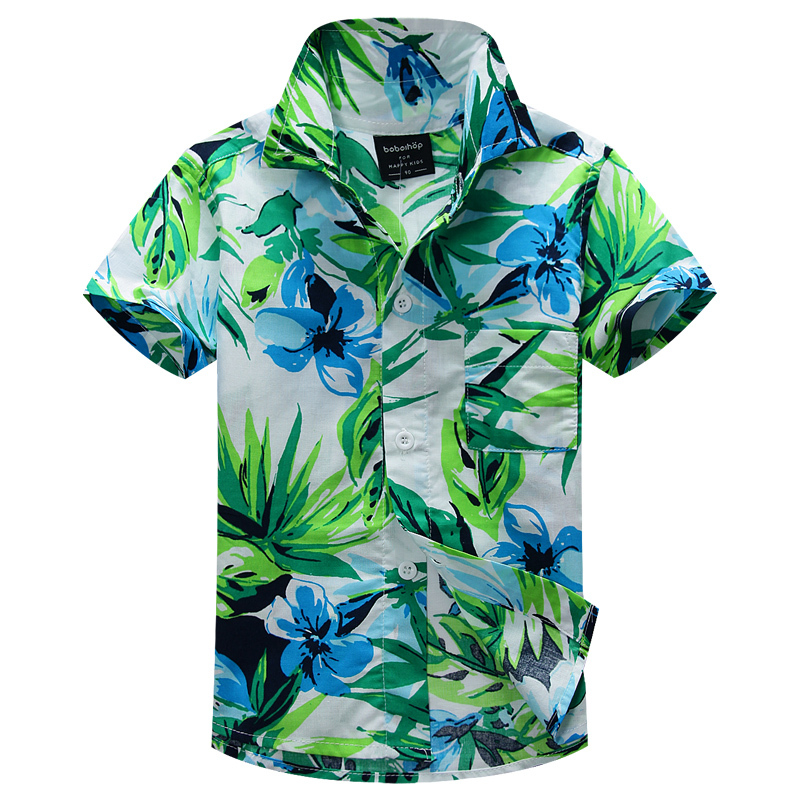 Фотография new arrival  cotton 100% floral shirt hawaiian shirt aloha shirt for boy t1520