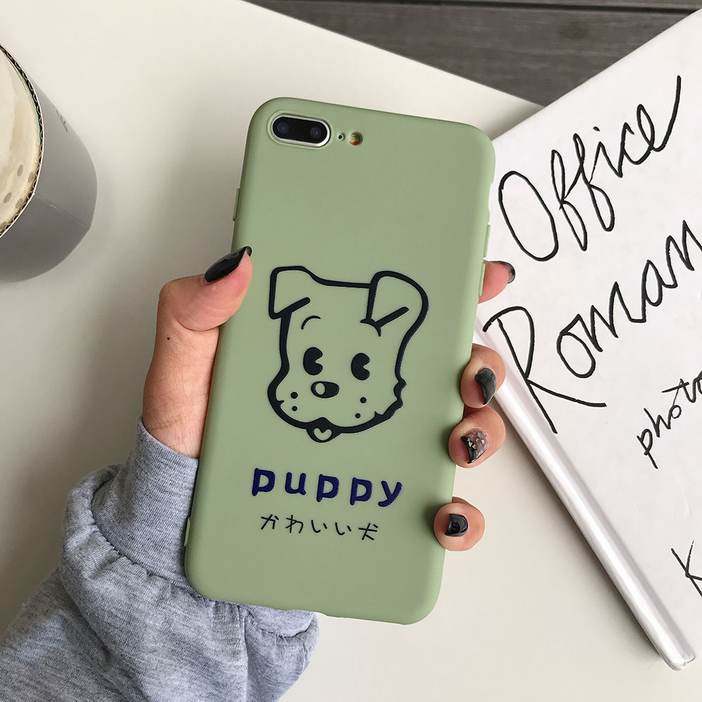 Case Cute Cover For iphone 7 X XR TPU Soft Silicone 6 6S 8 Plus Animal Candy Colors
