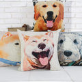 Cotton Dog Pillow Puppy Sofa Cushion Office Bedroom Waist Pillow Back Pillow Cartoon Pillow  45 X 45 Cm Hot Sale