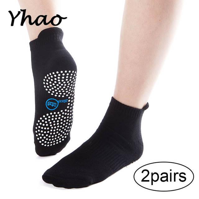 e661b3601 2 Pair Lot Yhao Brand Women s Yoga Anti Slip Socks Gym Pilates Ballet Socks  Fitness Breathable Freely Trampoline Socks