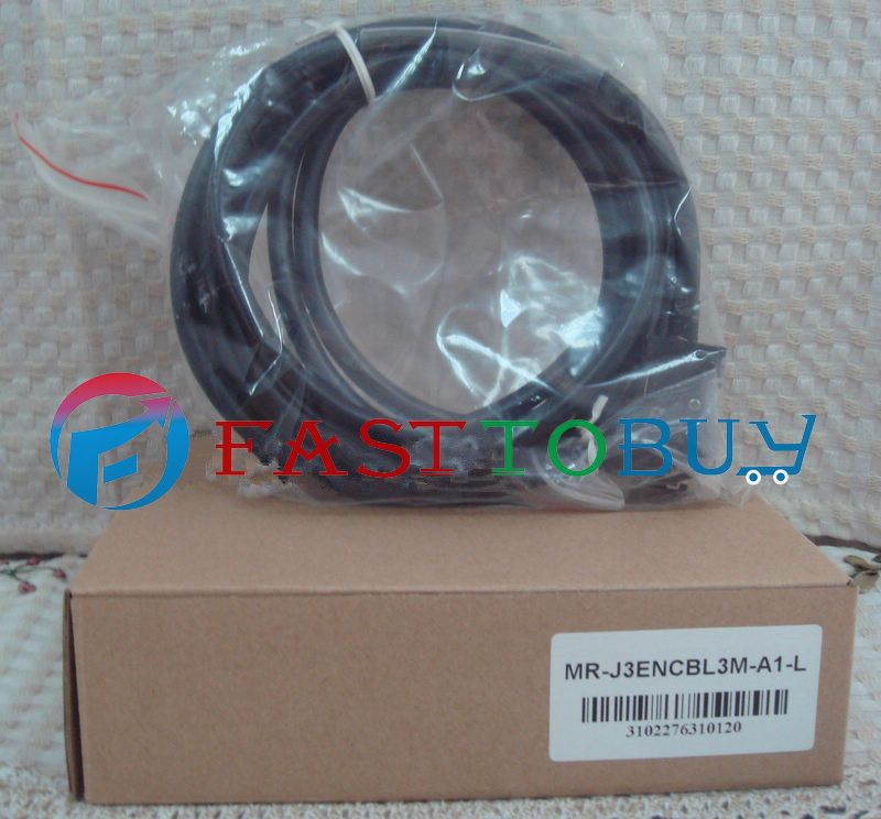NEW MR-J3ENCBL3M-A1-L Compatible Mitsubishi Servo Encoder Cable 3M One Year Warranty цены