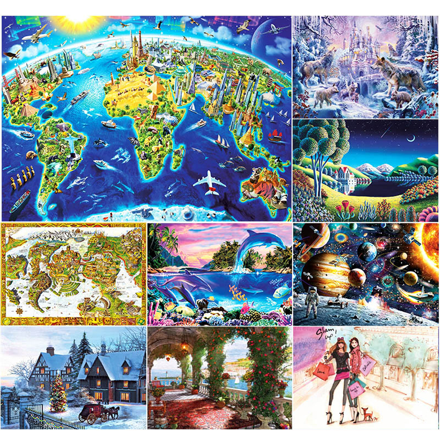 Cartoon Diy Jigsaw Paper Puzzle Pieces Kids 3d Jigsaw Puzzle Montessori Toys Educational Spielzeug Puzzles For Children 60D0044 цена