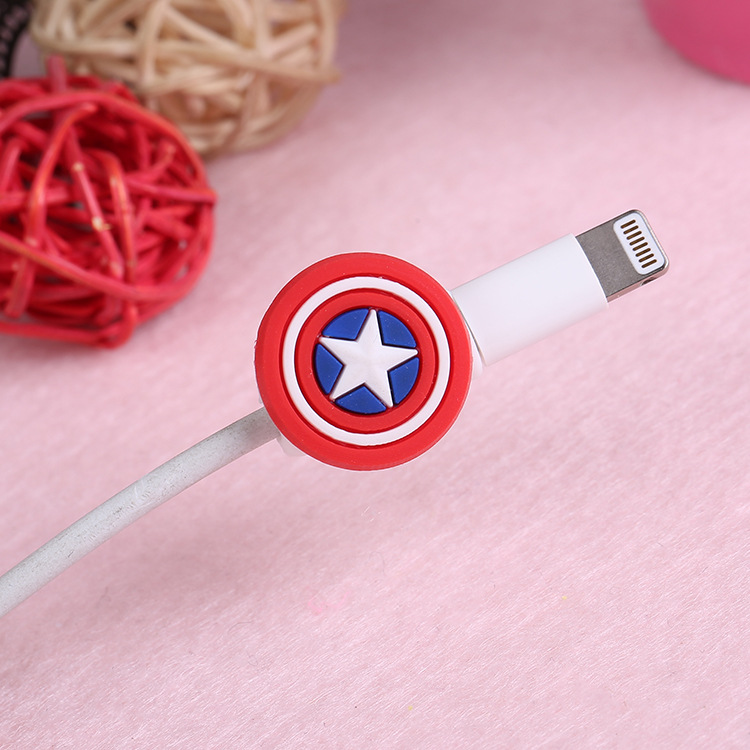 100Pcs lot Cartoon Cable Protector For iPhone5 5s 6 6plus 6s 7 8 USB Charging Data Line Cord Protector Case Cable Winder Cover in Cable Winder from Consumer Electronics