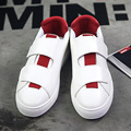 Новый Дизайн 2017 Мужчины Резиновые нескользящей Hasp Повседневная Обувь Моды для Мужчин Красочные Дышащий Плоским Вождения Обувь Черный Зеленый красный Белый