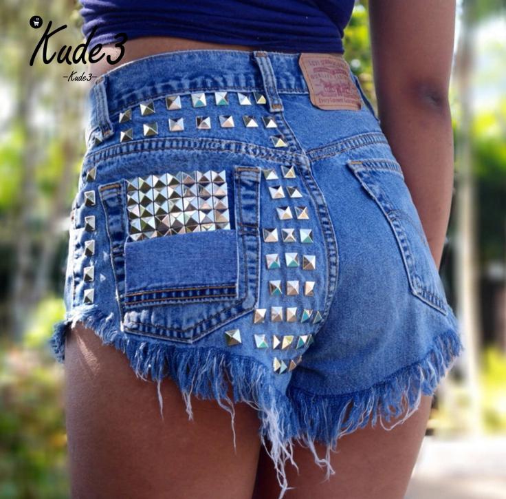 Denim Shorts Punk Jeans Tassel Ripped Vintage Sexy High-Waisted Women Fashion-Brand Hot