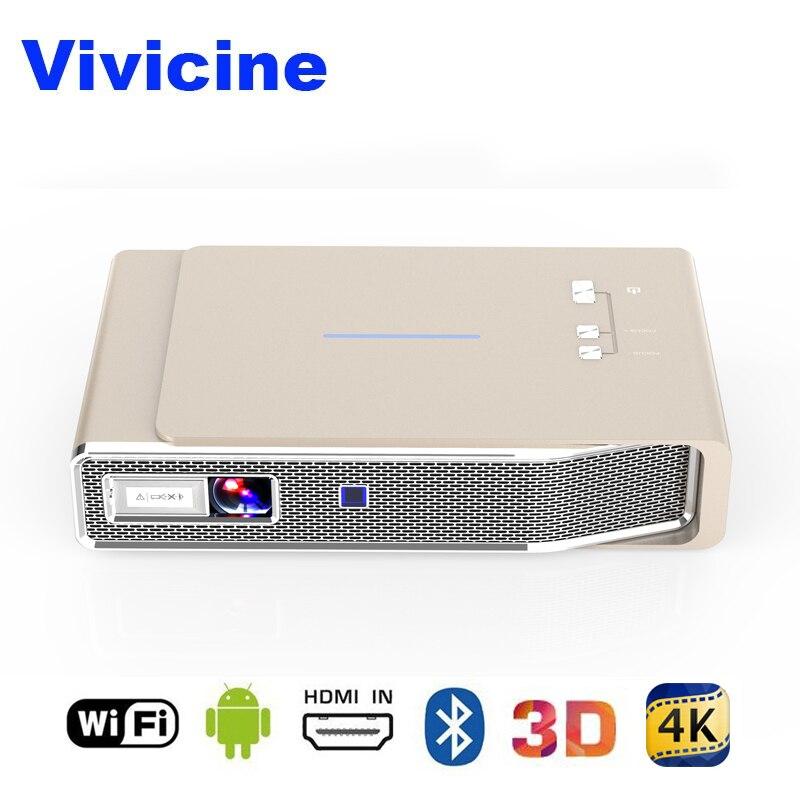 Vivicine новые 3D 4,4 P домашний проектор Android 1080 Bluetooth Miracast Airplay беспроводной HD мультимедиа видео Proyector