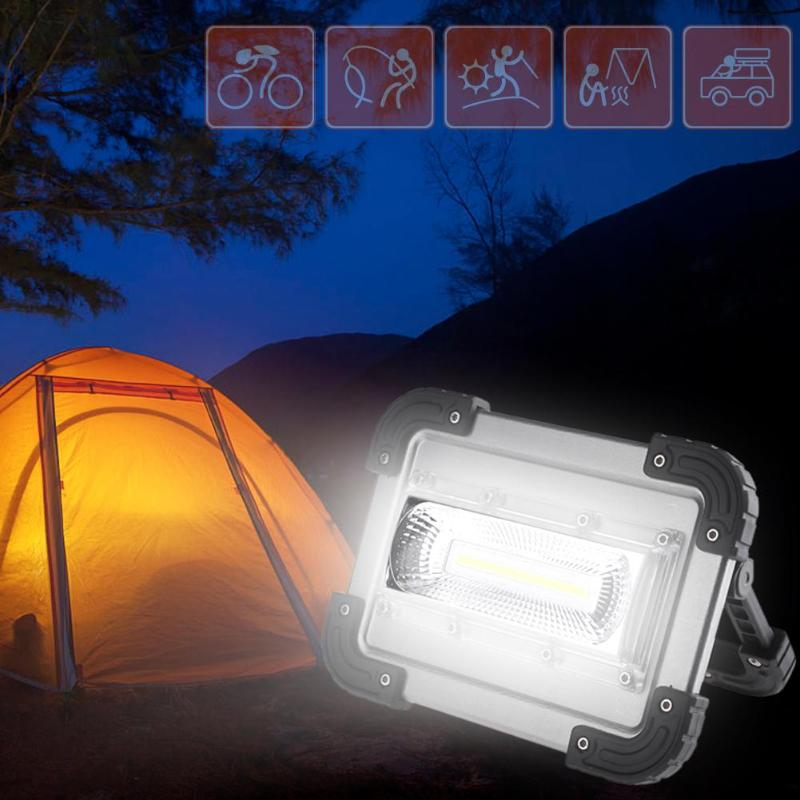 COB LED Work Light Floodlight Outdoor Portable Camping Lamp Spotlight Waterproof Lawn Lamp Searchlight for Camping Hunting