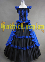 Custom made Gothic victorian dress Southern Ball Gown Dress Civil War costume belle Medieval Corset costume for party
