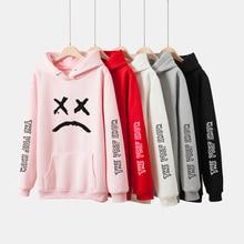 LUCKYFRIDAYF 2018 Lil Peep Spring Women/Men Hoodies Sweatshirts Long Sleeve Print Hip Hop Hoodies Men/Women Clothes Plus Size