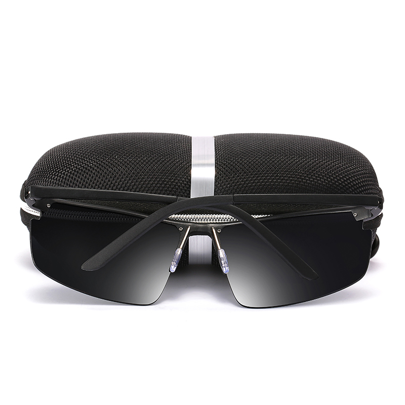 2019 Rectangle Men Polarized Sunglases Black/Brown/Siliver  Color Metal Frame UV400 Male Glasse Come With box  Free Shipping