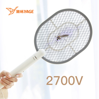 YAGE Electric Mosquito Swatter 2700V USB 1200mAh Rechargeable Battery Fruit Moscas Fly Killer Mata Mosquito Eletrico Racket