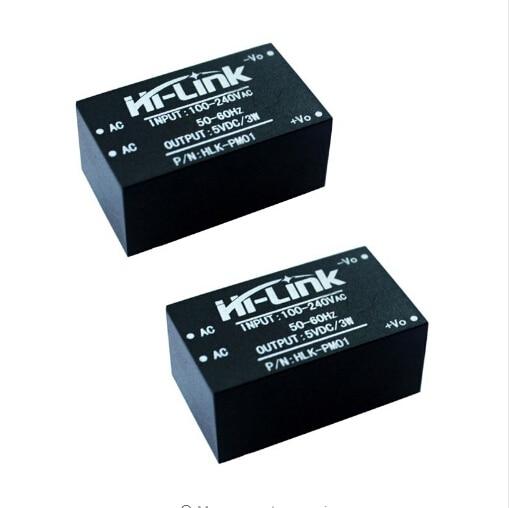 Free shipping 10pcs lot new Hi Link ac dc 5v 3w mini power supply module 220v