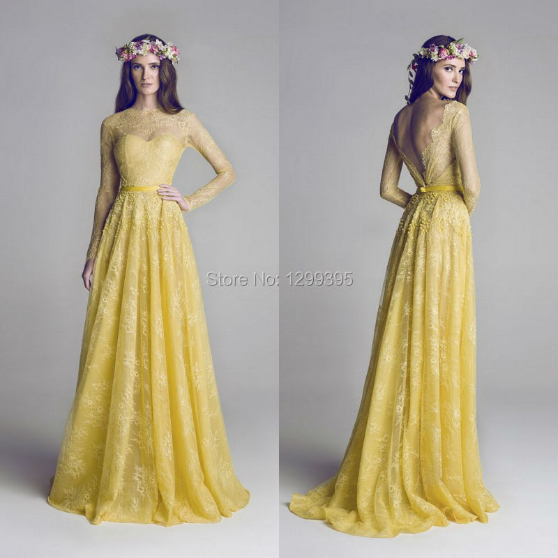 Compare Prices on Long Yellow Prom Dress with Sequin Back- Online ...