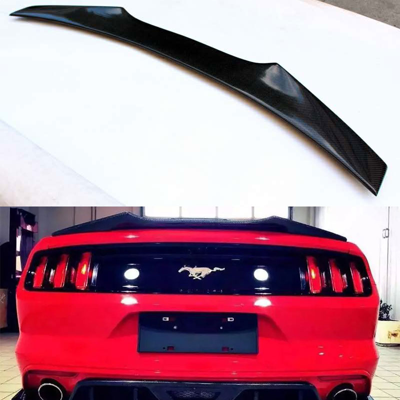 For Ford <font><b>Mustang</b></font> Coupe <font><b>2015</b></font> Carbon fiber rear trunk spoiler boot <font><b>wing</b></font> image