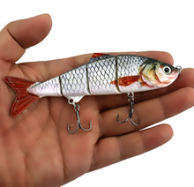 HENGJIA 1PC 8 Sections Jointed Minnow 14.5cm 28g Fishing Lure Swimbait Isca Artificial Hard Tackle Lifelike