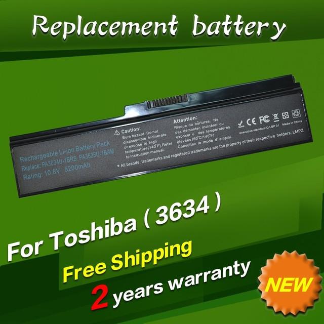 Jigu batería para toshiba pa3634u pa3634u-1bas pa3634u-1brs pa3635u-1bam pa3635u-1brm pa3636u-1brl pa3638u-1bap pa3728u-1brs