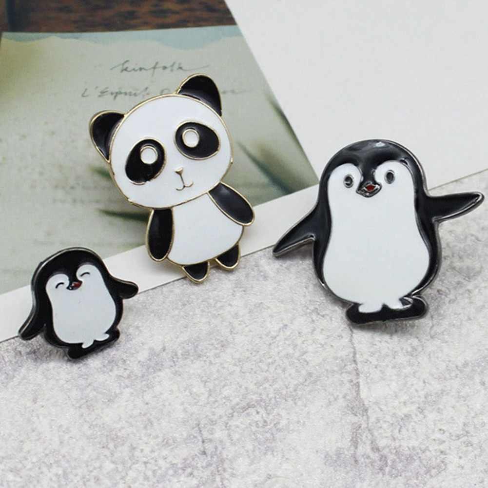 1 cái pin Động Vật đặt Panda Men Pins Dễ Thương Ve Áo pins Kawaii Trâm Cài Động Vật đồ trang sức