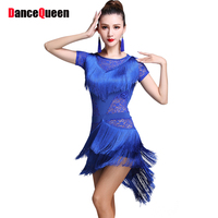 Sexy Latin Dance Dresses For Ladies 4 Color Nice Quality Elastic Tassel Skirts Women Adult Latino