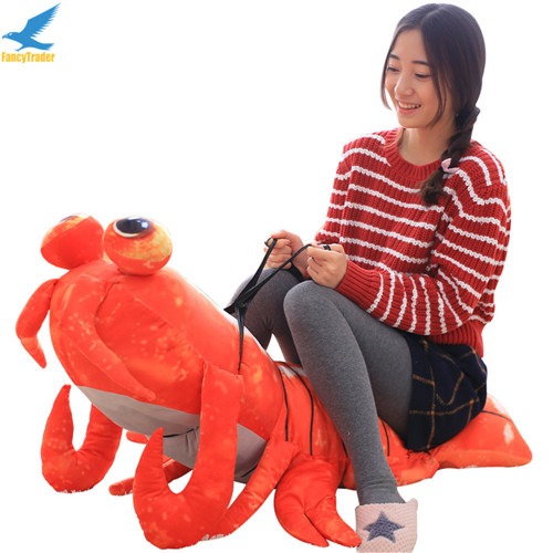 Fancytrader Jumbo Pop Anime Mantis Shrimp Plush Toy Giant Stuffed Soft Simulated Sea Animals Lobster Doll for Adult and Children (12)