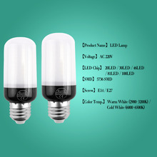 led bulb e27 lamp e14  220v 110v 3w 5w 7w 9w smd 5736 ic ship dido warm white cool