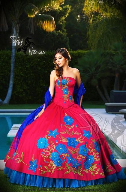 New Hot Pink & blue Vestidos Quinceanera 2016 Vestidos de Concurso Meninas Formal Vestidos vestido para 15 anos Robe de mariage com bordado