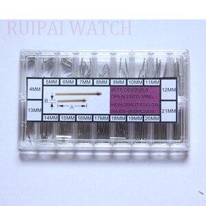 316 # браслет для часов из нержавеющей стали, разделенные штифты в ассортименте (360 шт.), диаметр 0,8 мм, размеры 4-21 мм