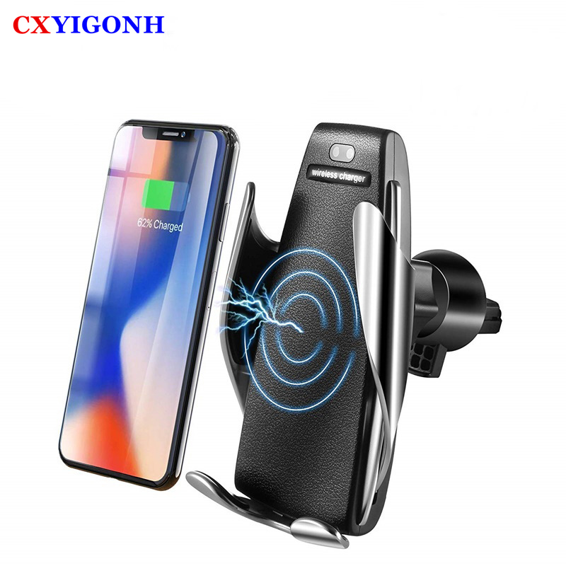 10W Wireless car charger S5 for iPhone 8 XSmax Fast Charging phone holder slot Car for