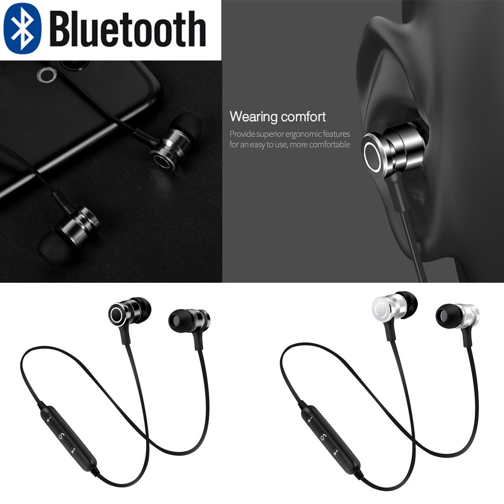 Wireless Bluetooth Headset Stereo Headphone Earphone Sport With MIC For Phone iPhone Xiaomi May23