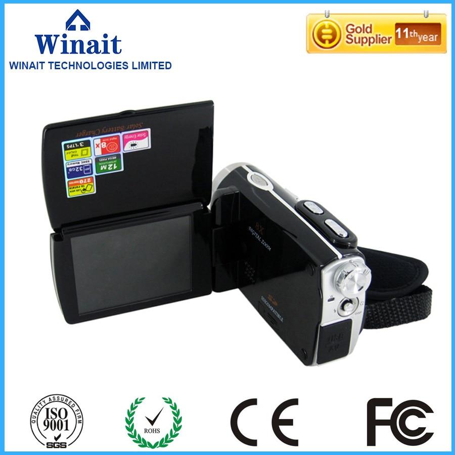 ФОТО 12mp digital video camera DV-T90+ dual solar charging 32GB memory 8X digital zoom professional video camcorder