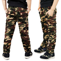 Boys Pants Camouflage Pants New 2016 Children Boys Casual Fashion Camouflage Pocket Pants For Spring Autumn