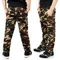 Meninos calças de Camuflagem calças Novo 2016 Crianças Meninos Moda Casual Bolso da Calça de Camuflagem Para Calças Primavera Outono para 5-13 Y