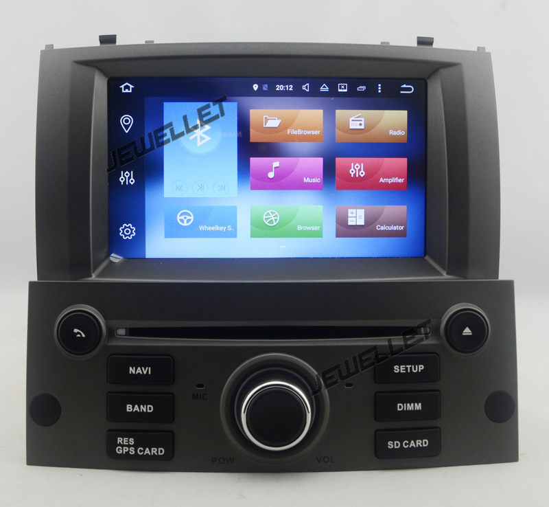 Quad Core 1024*600 HD Screen Android 9.0 Car DVD GPS Radio Navigation For Peugeot 407 2004-2010 With 4G/Wifi DVR OBD Mirror Link