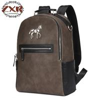 New Unicorn Backpack Men's Leather Shoulder Bag Korean College Student Bag Leisure Backpack