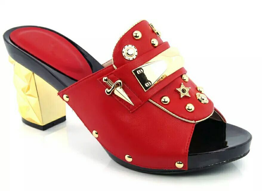 ФОТО Nice Looking Rhinestone African Sandals Shoes New Fashion Italian Lady Shoes High Heels For Party! HDD1-2