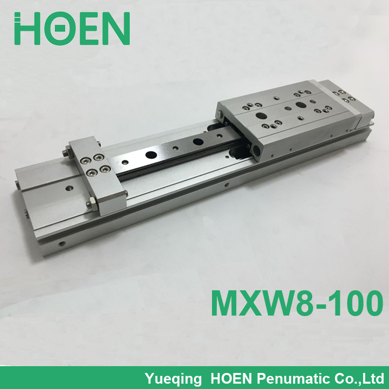 MXW 8-100 Slide Cylinder Air Slide Table Series MXW SMC cylinder pneumatic air cylinder High quality mgpm63 200 smc thin three axis cylinder with rod air cylinder pneumatic air tools mgpm series mgpm 63 200 63 200 63x200 model