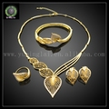 Hot Sell high quanlity 24K real gold plated jewelry set match wedding and Anniversary accessories EHK581