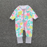 Newborn Baby Boys Girls Clothes 100 Cotton Long Sleeve Baby Rompers Foot Cover Blanket Sleepers Pajama