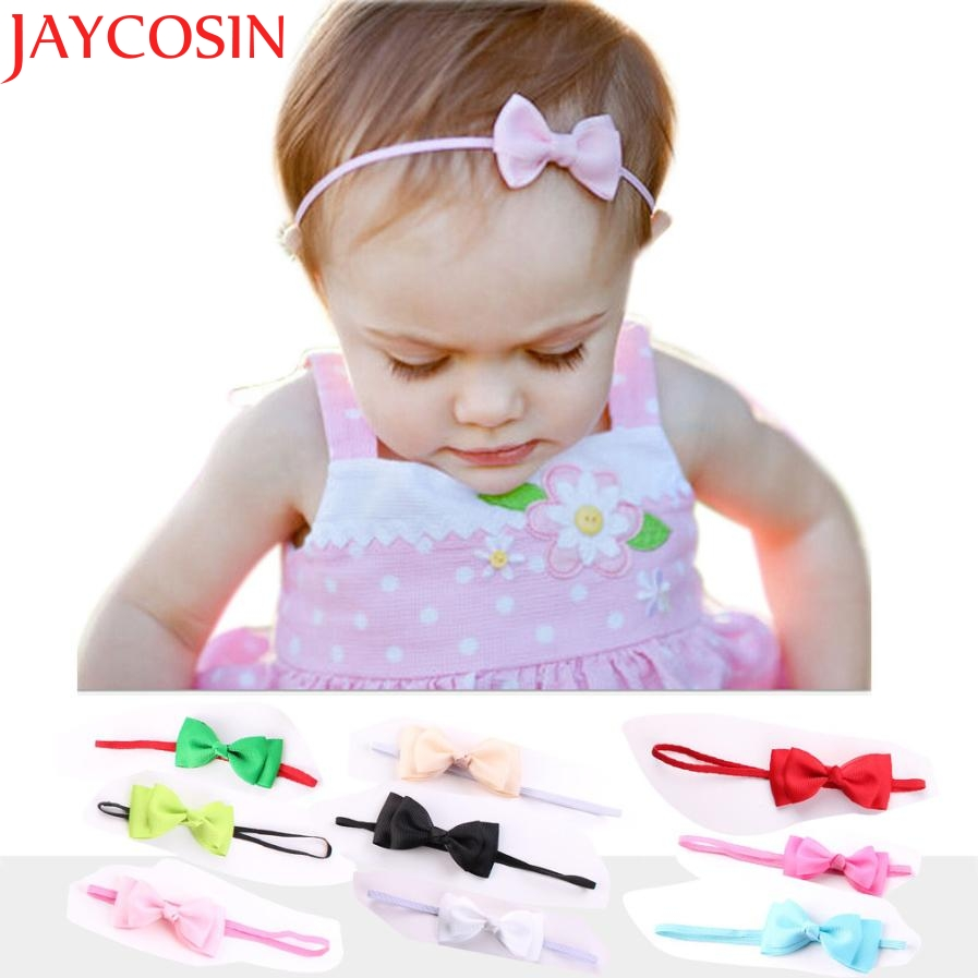 JAYCOSIN Bowknot Headband hair accessories Girl headband cute hair band newborn floral headband S16 drop Shipping цены онлайн