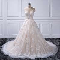 Saudi Arabia Dresses Lace Turkey 2018 Ball Gown Lebanon off Shoulder Robe de mariage Chapel Train Lace Applique 2018