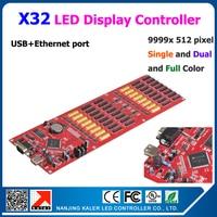 kaler 5pcs a lot Nanjing kALER led controller card X32 support multi language scrolling message led sign 9999x512 pixel