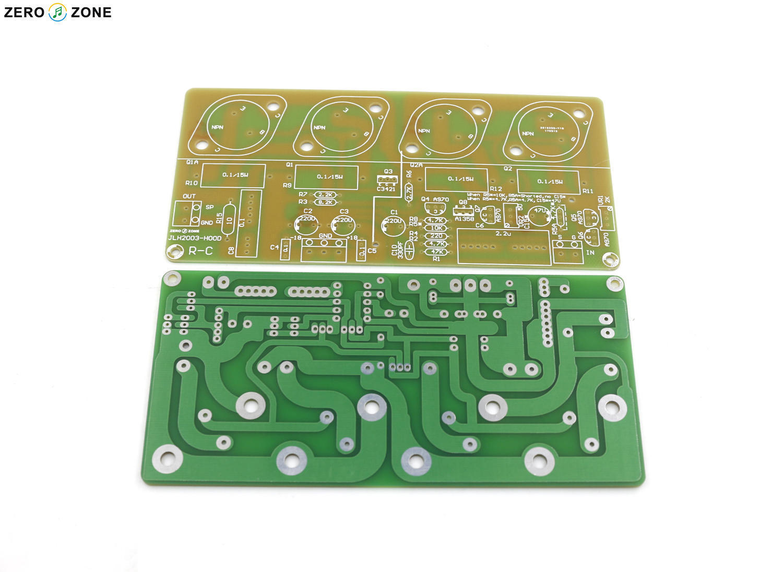 One Pair JLH2003 Version HOOD Class A Single-ended Power Amplifier Board PCB lige horloge 2017