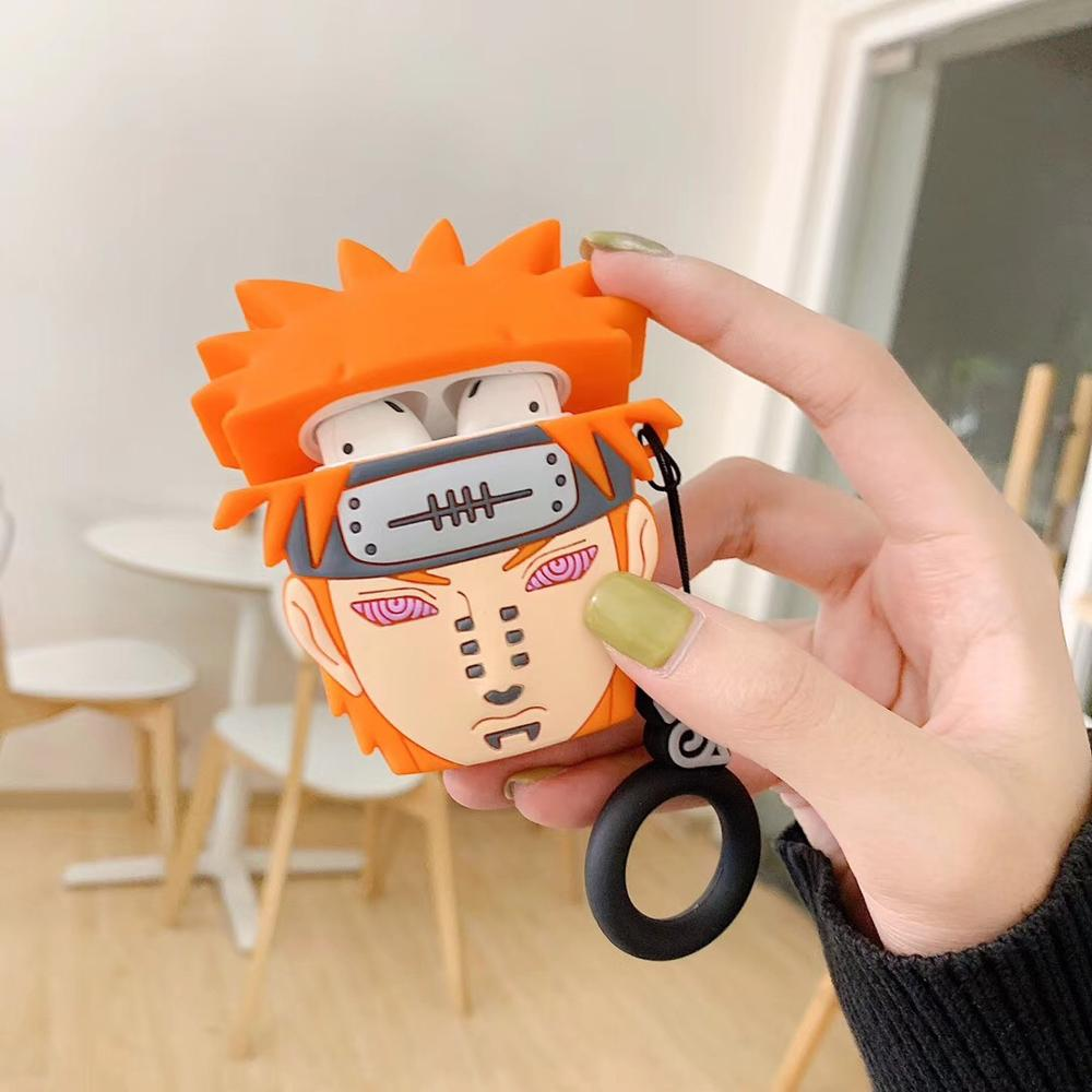 Image 3 - Japan Tide brand 3D Naruto wireless Bluetooth headset set Silicone Case For Airpods Earphone Protective Case Shockproof Cases-in Earphone Accessories from Consumer Electronics