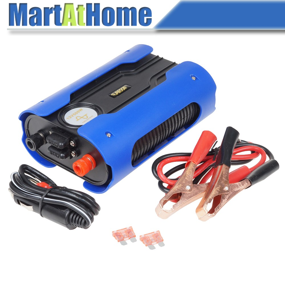 500 Watts 12V DC to 110V/220V AC Peak 1000W Car Auto Power Inverter Sine Wave with 2 USB Ports & Cooling Fan for Mobile,TV @CF professional 3000w power inverter dc 12v to ac 110v 220v with led indicator light fan cooling universal socket car converter