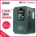 Sako 380 V 5.5KW Solar fotovoltaica comprimido bomba de agua VFD DC a DC-AC inversor convertidor de 380 V triple (3) salida de fase