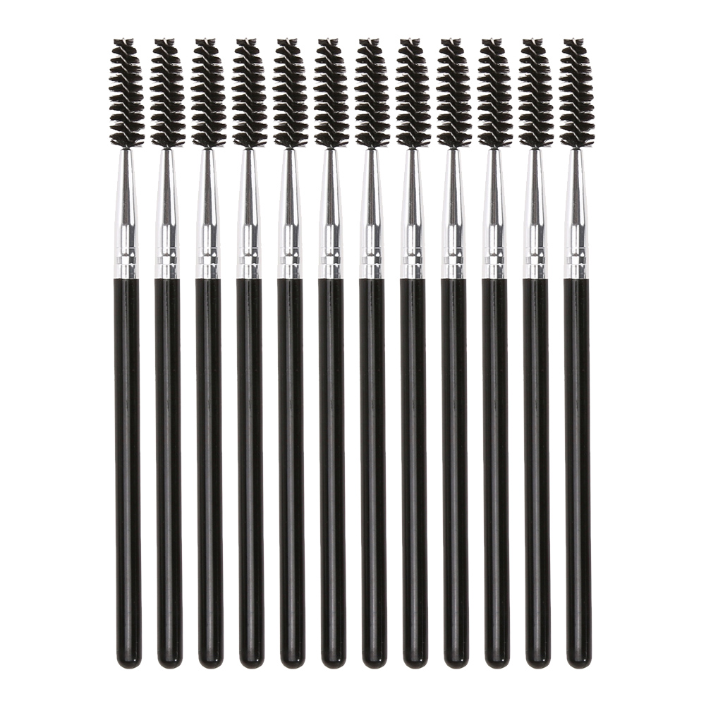 12PCS Disposable Eyelash Brush Mascara Wands Applicator Spoolers Eye Lashes Cosmetic Brushes Comb Set Eyelash Curler Makeup Tool комплекты эротик pink lipstick комплект 2 предмета