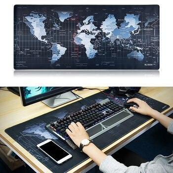 grand tapis de souris carte du monde idée de cadeau geek