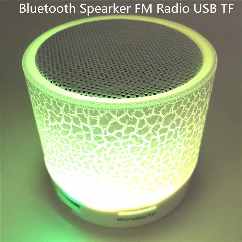 Altavoz Bluetooth inalámbrico LED TF USB Subwoofer altavoces portátiles MP3 estéreo Audio reproductor de música Mini altavoces para iPhone