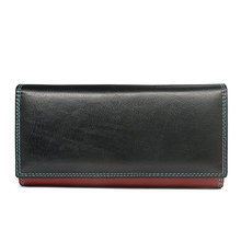 Luxury Genuine Leather  Womens wallets Long women wallet and Purses Colorful Female for ID Card Holder Coin Money Bags