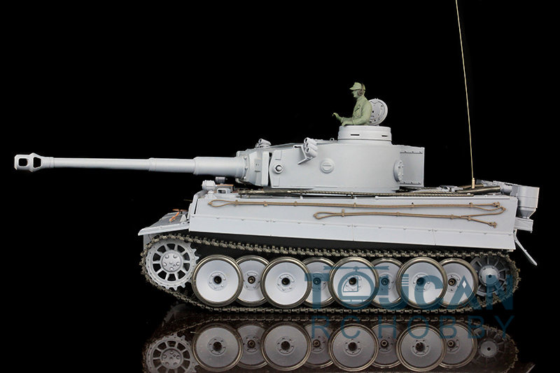 цена на 2.4Ghz HengLong 1/16 Scale German Tiger I Plastic Version RTR RC Tank Model 3818