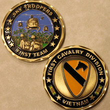1-я кавалерийская дивизия Вьетнам памятная монета для участника армейских соревнований подарочные сувениры, высокое качество